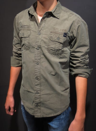 Boy woven long sleeved shirt